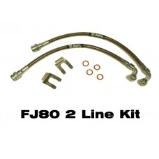 IPOR Stainless Steel Caliper Brake Line Kit,  FJ80, 91-97, Front only, 2 Brake Lines