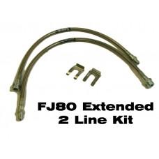 IPOR FJ80 (1991-1992) Extended Brake Line Kit